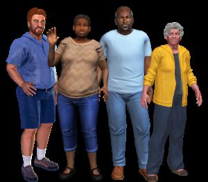 Four Virtual Patients